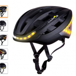 Casco negro de ciclismo con bluetooth integrado